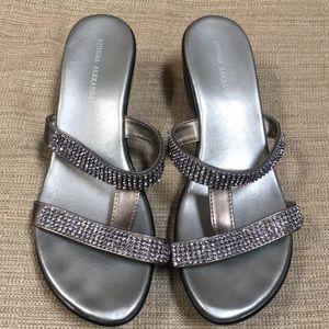 Athena Alexander blingy slip-on sandals
